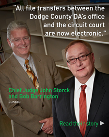 Chief Judge John Storck and Bob Barrington - Read Their Story