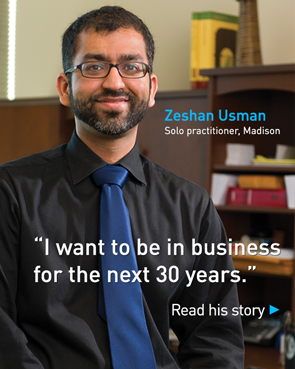 Zeshan Usman, Solo practitioner, Madison - Read His Story