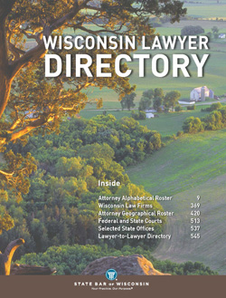 2013 Wisconsin Lawyer Directory