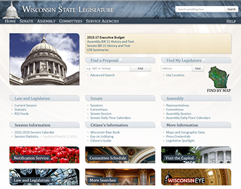Wisconsin State Legislature website