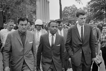John Doar escorts James Meredith