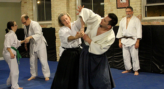 Judge Mel Flanagan practices and teaches Aikido