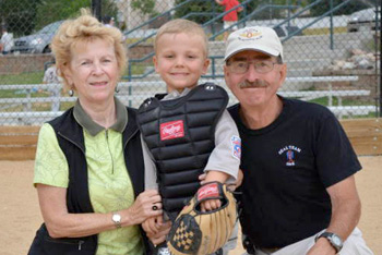 Ted Hodan with wife and grandson