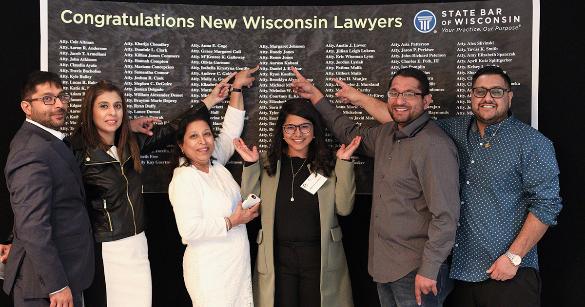 WisBar News: Marquette Admissions: Welcome to 155 New Lawyers: