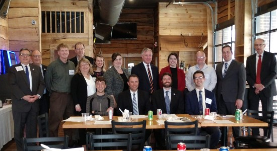 Photo of State Bar and Fond du Lac members meeting with Sen. Feyen and Rep. Thiesfeldt