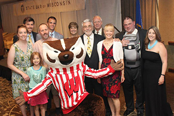 Swearing in ceremony with Bucky Badger