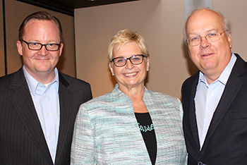 Robert Gibbs, Janine Geske, and Karl Rove