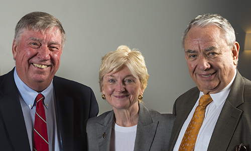 Judge Allan Torhorst, Chief Justice Patience Roggensack, and Gov. Tommy Thompson
