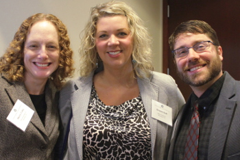 Secretary Sherry Coley, with board members Deanne Koll and Charles Stertz.