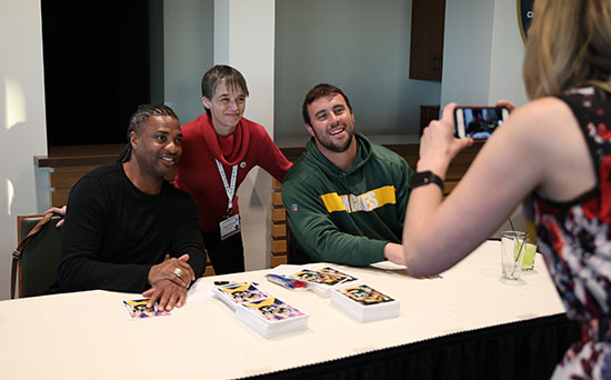 posing with Packers