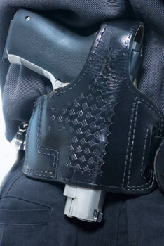 holstered handgun