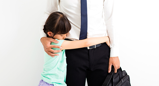 daughter hugs lawyer father