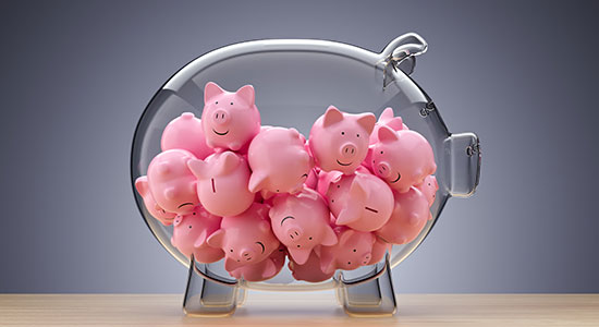 piggybank full of piggybanks