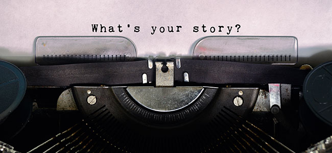 typewriter what's your story?