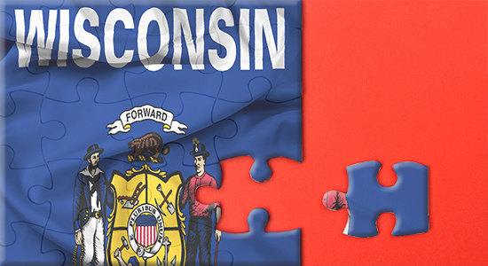 Wisconsin state flag puzzle