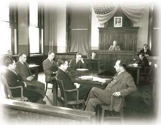 interior of a court room