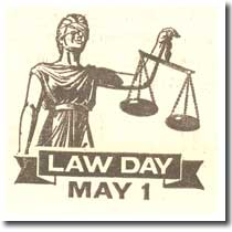 Law Day ad from old Bar publication