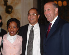 Michelle Behnke, Justice Louis Butler, and 