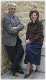 Prof. Ralph Cagle and Prof. Gretchen 