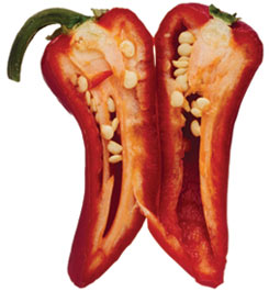 split open pepper