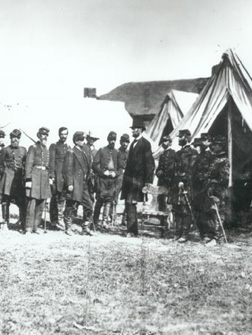 Lincoln with General McClellan