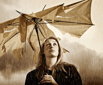 torn umbrella