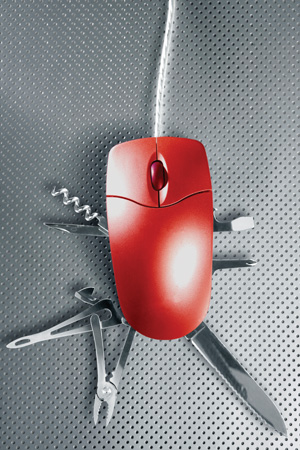 swiss army knife mouse
