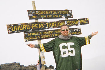 Ryan Holtan-Murphy on Mt. Kilimanjaro