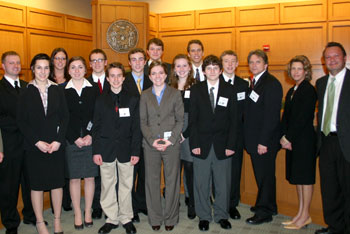 2010 Green Bay East High School mock trial team