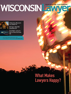 July/August 2014 Wisconsin Lawyer magazine