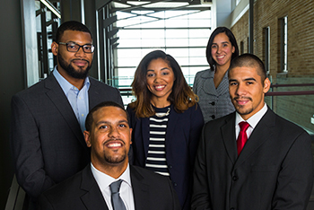 Students from U.W. Law School's Black Law Students and Latino Law Students associations