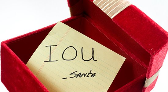 IOU note from Santa