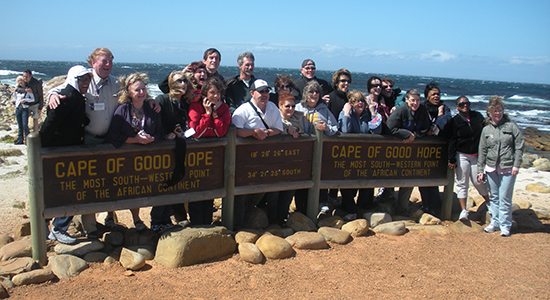 People to People exchange program at the Cape of Good Hope