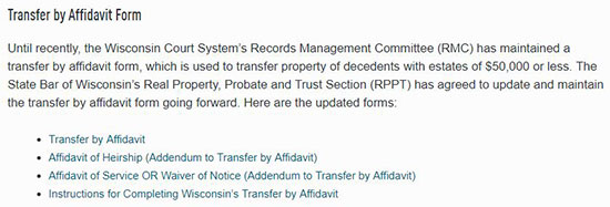 transfer by affidavit form