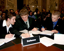 Mock Trial finalist team prepares to argue before 