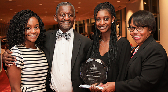 Judge Carl Ashley and family