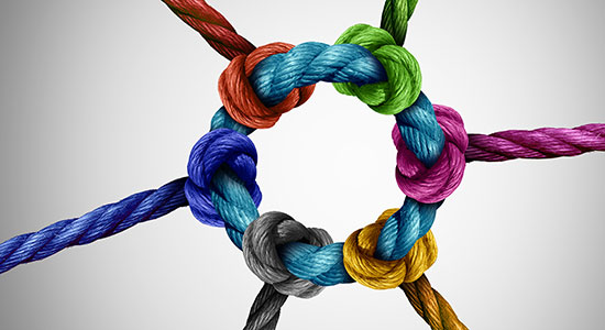 multi-colored rope